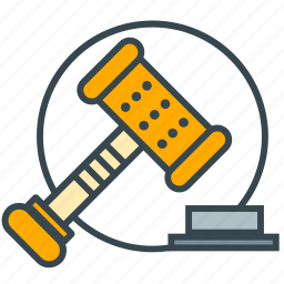 attorney, auction, business, judge, office icon