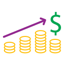 diagram, graph, icons, money icon