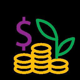coins, icons, money, profit icon