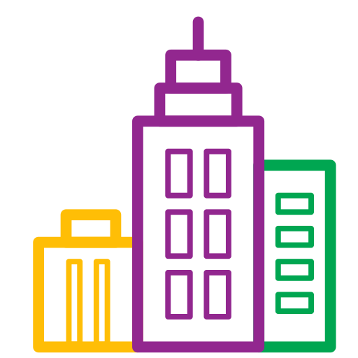 business center, city, home, house, icons, office icon