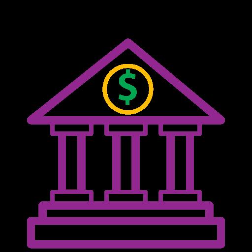 bank, icons, money icon