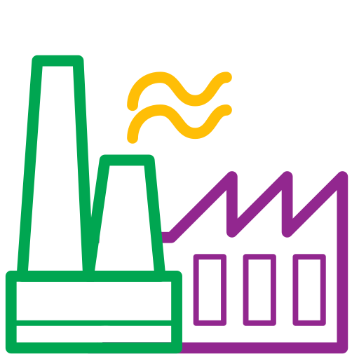 factory, icons, plant, production icon