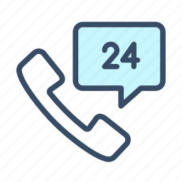 business, call, communication, customer support, phone, support 24, telephone icon