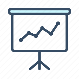 business, char, graph, konference, meeting, presentation, white paper icon