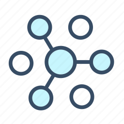 business, connect, distribution, manage, network, organize, share icon
