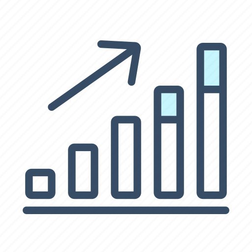 analysis, chart, graph, growth, increase, revenue, statistics icon
