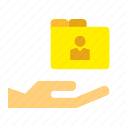 document, file, give, hand, holding icon