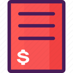 contract, deal, dollar, exchange, sign icon