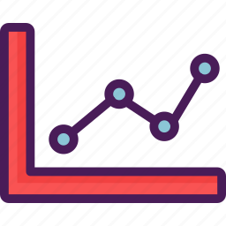 chart, data, diagram, graph, information, line, presentation icon