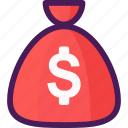 bag, cash, coins, economy, money icon