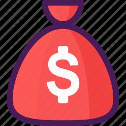 bag, cash, coins, economy, money icon