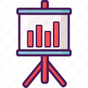 data, graph, information, meeting, presentation icon