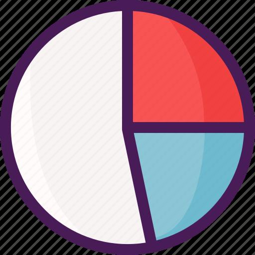 chart, diagram, graph, line, pie icon