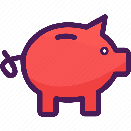 bank, money, piggy, saving icon
