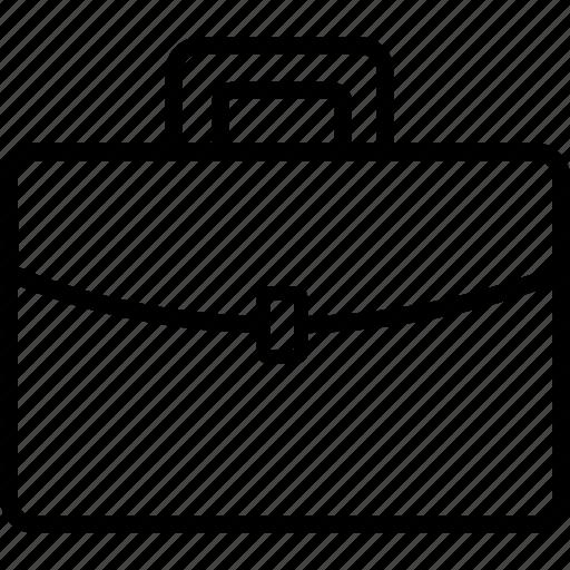 bag, briefcase, case, luggage, office, school icon