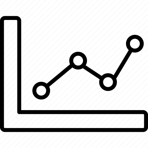 chart, data, diagram, graph, information, line icon