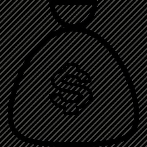 bag, bank, cash, coins, money icon