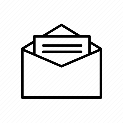 business, commerce, economics, envelope, letter, office, stationery icon