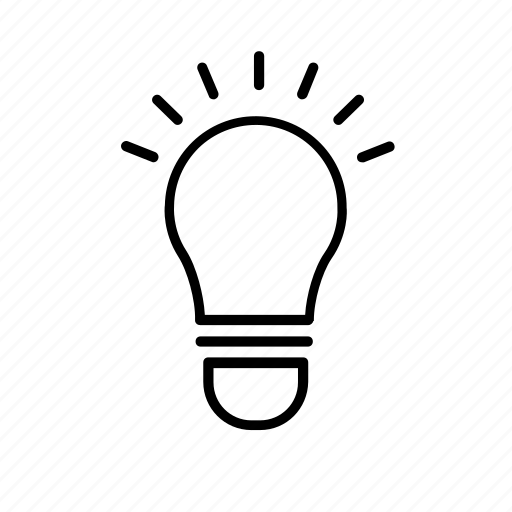 business, commerce, economics, idea, lightbulb, office, working icon