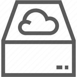 cloud computing, computer, data, database, network, storage icon