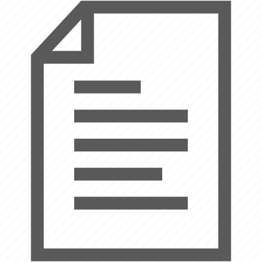 document, list, note, reminder icon