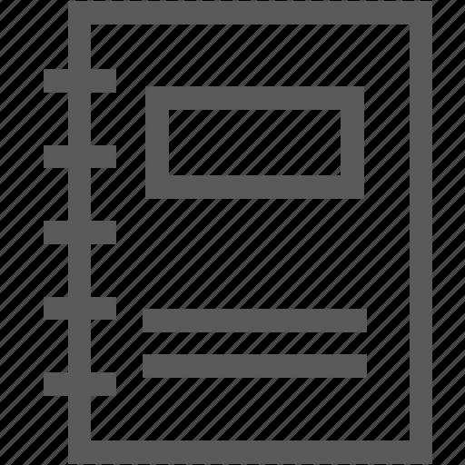 document, file, memo, notebook, paper icon
