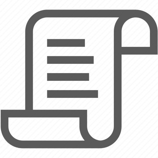 document, file, paper, payment, receipt icon