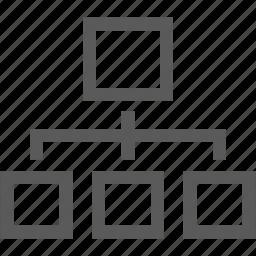 analytics, graph, organization chart, report, statistics icon