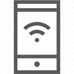 internet, mobile, phone, smart phone, wifi icon