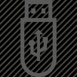 computer, file, usb icon