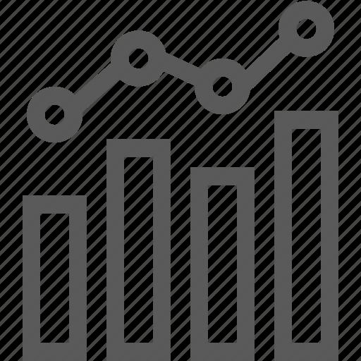 bar graph, chart, graph, line graph icon
