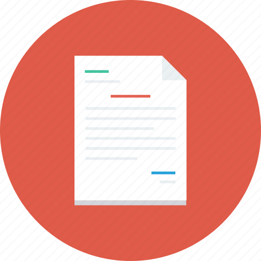 document, extension, file, format, paper icon icon
