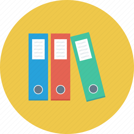 file folders, folders, office icon, • documents icon