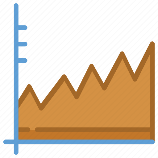 business chart, business graph, graph, growth chart, line chart icon