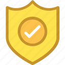 business shield, checked, protection shield, reward, shield icon