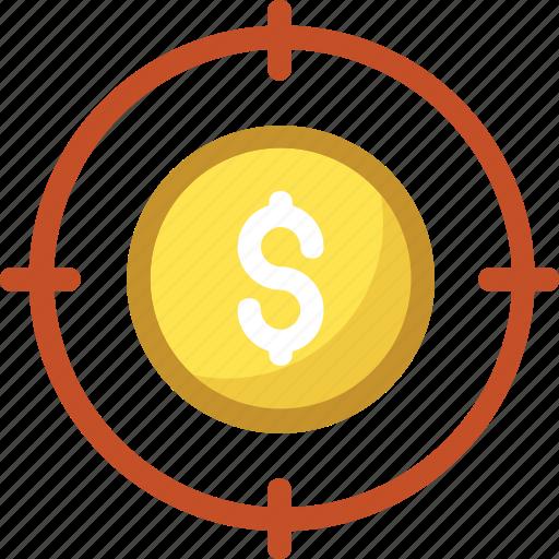 aim, business target, crosshair, goal, target icon