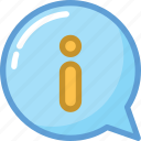 chat bubble, info, info sign, information, online information icon