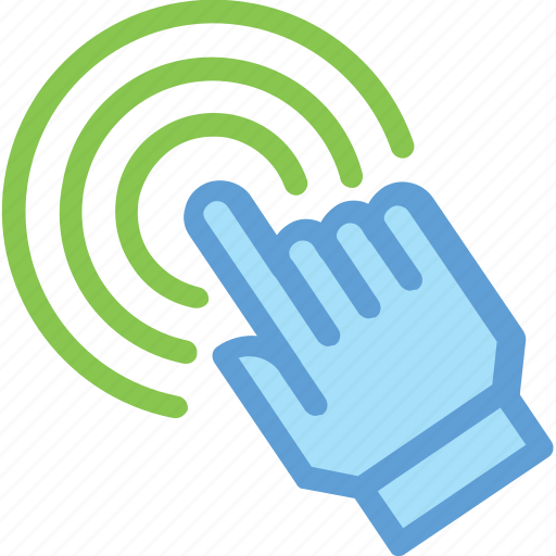 click, finger touch, hand gesture, hand touch, pointing finger icon