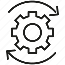cog, gear, seo, settings, sprocket icon icon icon