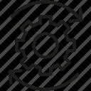 cog, gear, seo, settings, sprocket icon icon icon