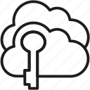 cloud, key, lock, security icon icon
