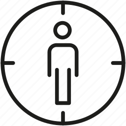 customer, target, user icon icon