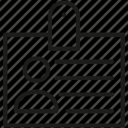 card, id icon icon