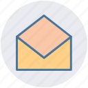 envelope, letter, mail, message, open, open envelope
