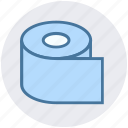 paper, roll, tissue, tissue paper, tissue roll, toilet icon