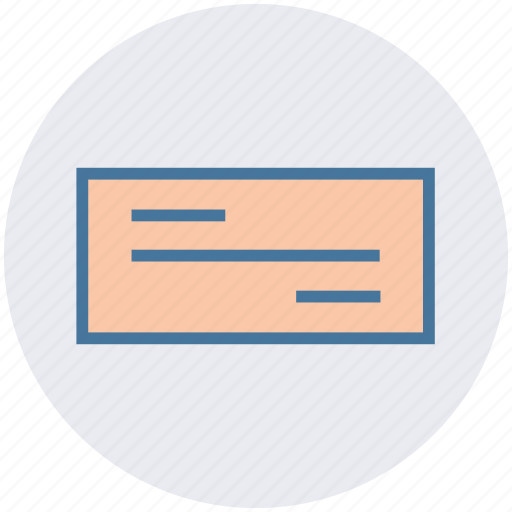 check, checkbook, currency, demand draft, document, paper icon