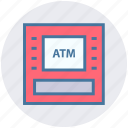 atm, atm machine, bank, device, machine, money, money machine icon