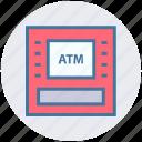 money machine, money, atm, machine, atm machine, device, bank icon