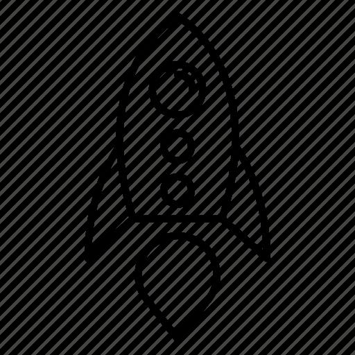 missile, rocket, spaceship, startup icon