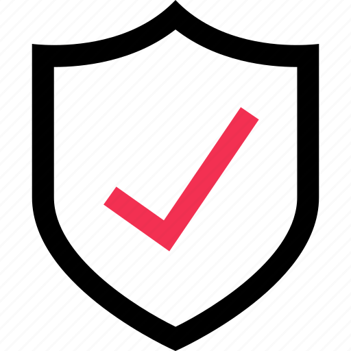 check, mark, safe, secured, shield icon